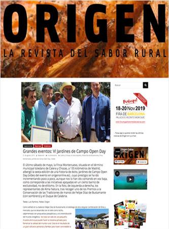 ORIGEN - La revista del sabor rural Agosto-2019